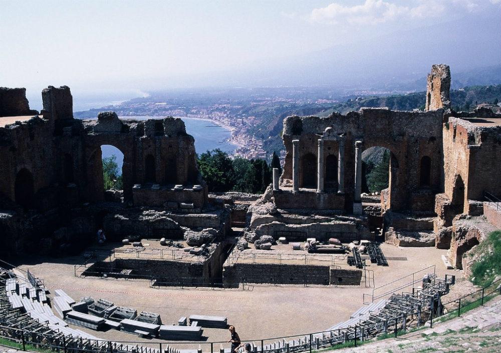 タオルミーナ、ギリシャ円形劇場