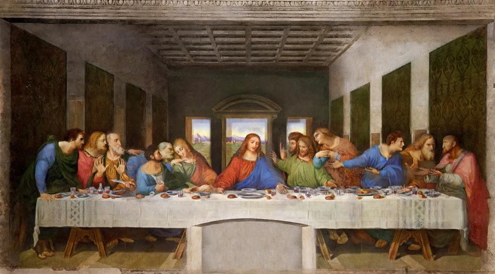 世界遺産、ミラノ、レオナルド・ダ・ヴィンチ「最後の晩餐」サンタ・マリア・デッレ・グラツィエ教会蔵