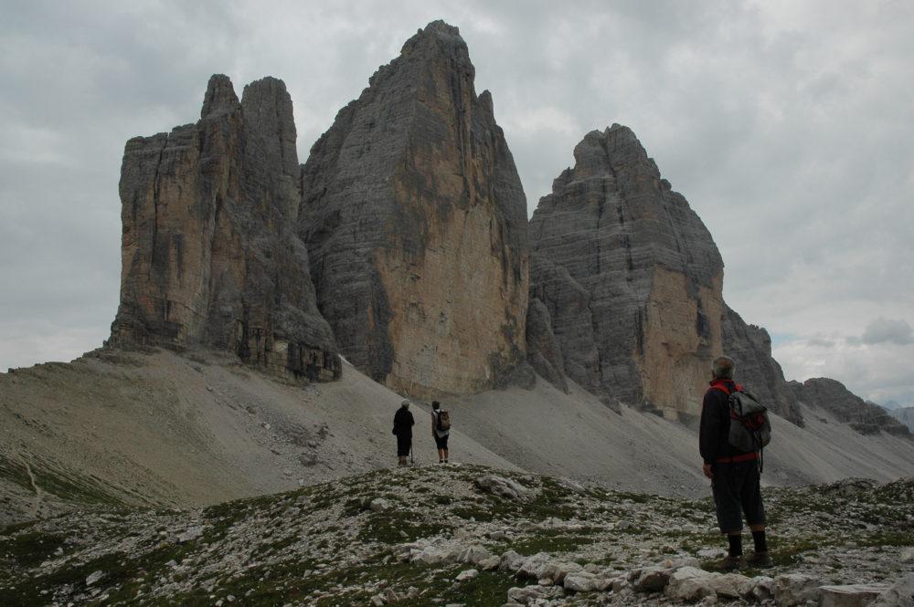 ドロミテ、トレ・チーメ・ディ・ラヴァレード(2999m)イタリア世界遺産