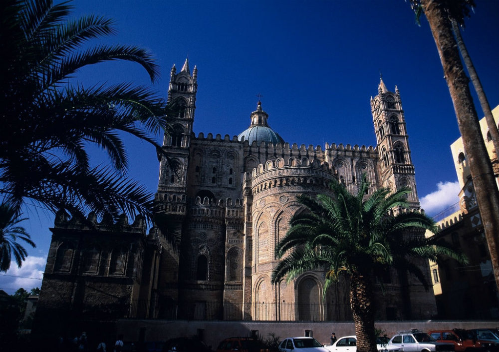 シチリア、パレルモ、ドゥオーモ大聖堂。イタリア世界遺産