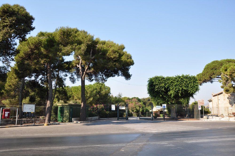 イタリアシチリア島シラクーサパオロオルシ考古学博物館。入り口