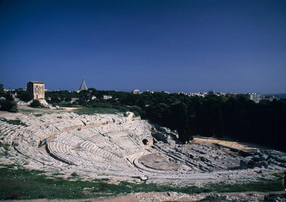 シチリア、シラクーサギリシャ円形劇場
