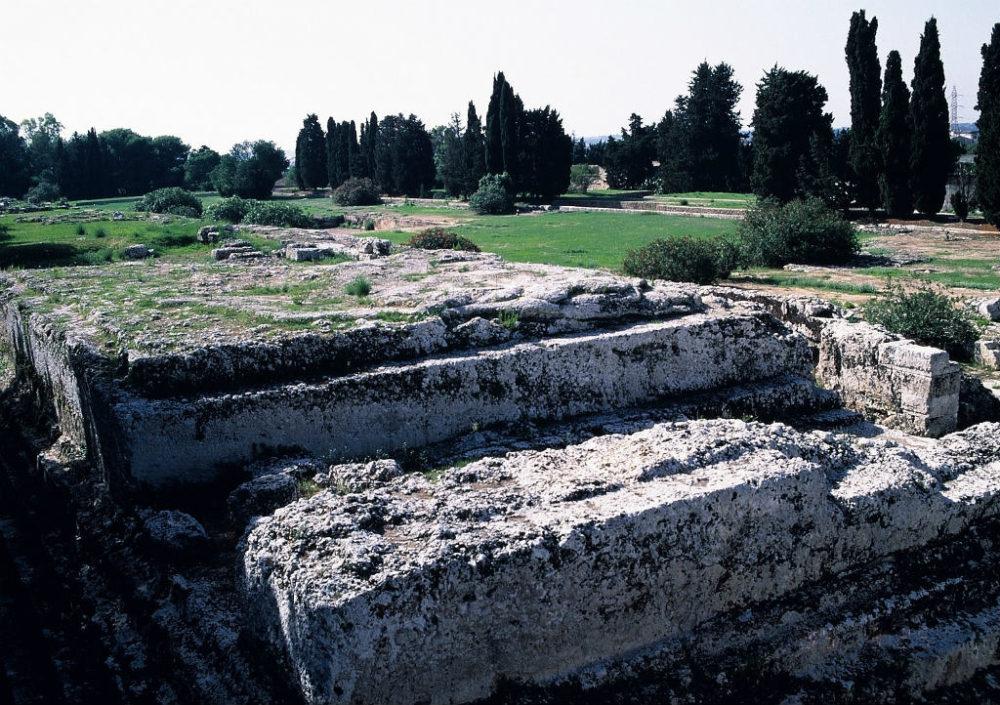 シチリア、シラクーサ考古学地区、ローマ時代のフォロ遺跡。
