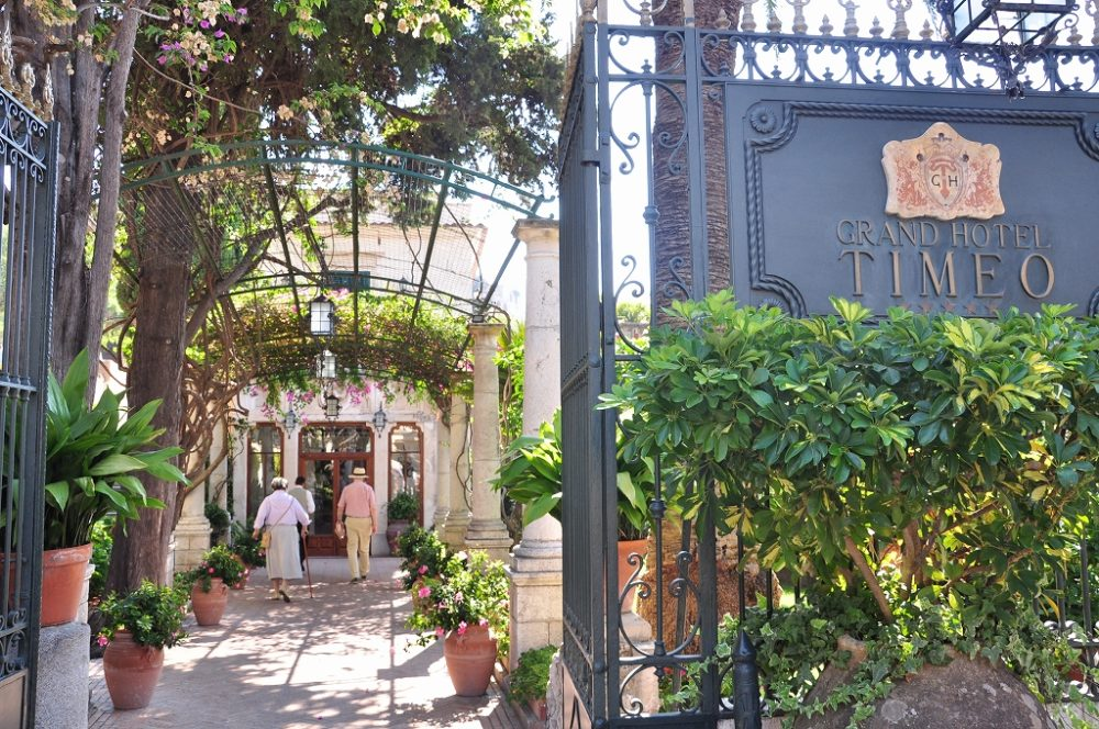 タオルミーナ、5つ星ホテルグランドホテルティーメオはギリシャ円形劇場のちかくです。