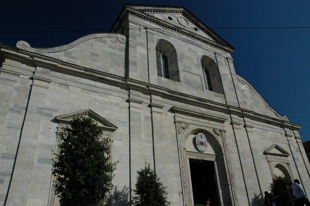 キリストの亡骸を包んだとされる聖骸布。ドゥオーモ(サン・ジョヴァンニ・バッティスタ大聖堂)に安置されている聖骸布博物館=Museo della Sindone