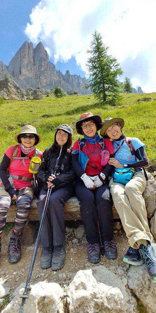 ドロミテ探索隊、オルティゼイからジーロ・デル・サッソルンゴうれしくて嬉しくて