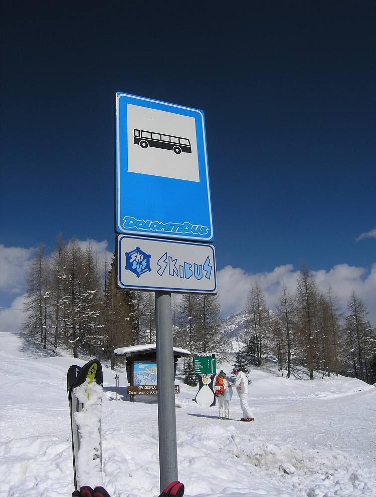 スキーバスのサインボードはこんな感じ