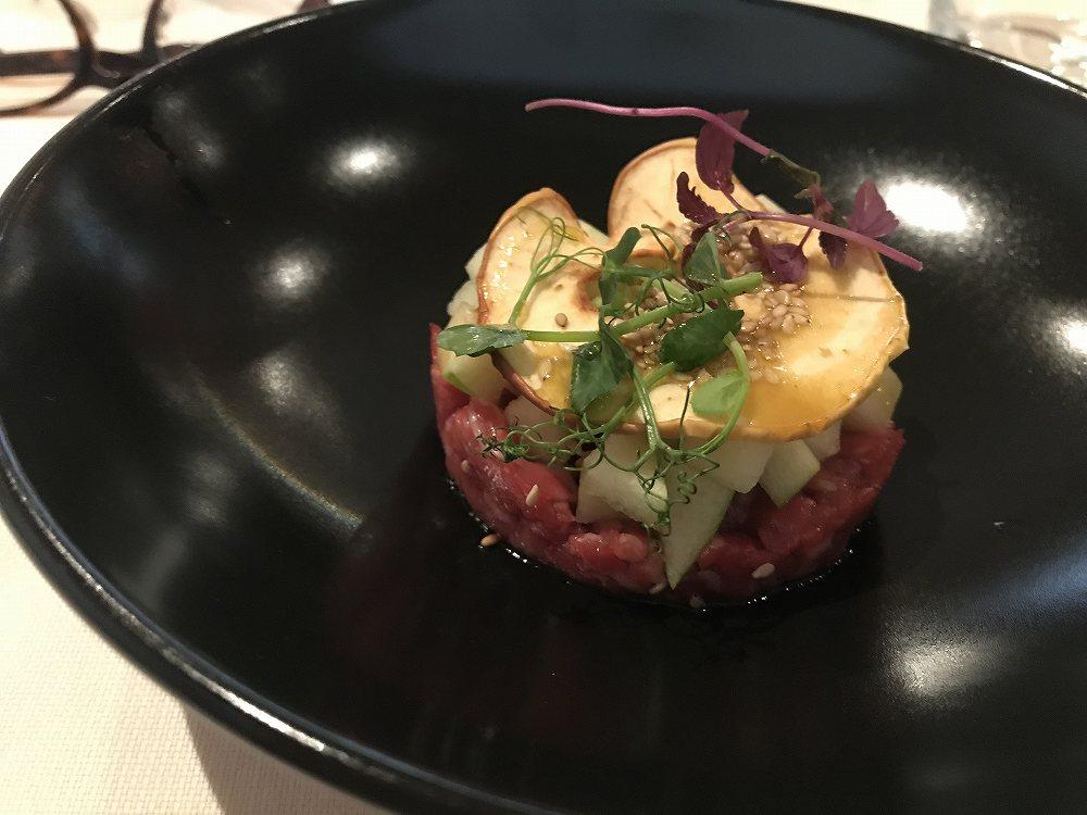 Tartare di manzo=前菜のカルパッチョ、牛肉たたき、